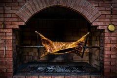Rôtissoire de barbecue Photos libres de droits