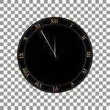 R?tro horloge avec l'illustration de vecteur de chiffres romains illustration libre de droits