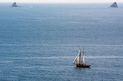R.Tucker Thompson sails ship at the Bay of Islands New Zealand Royalty Free Stock Image