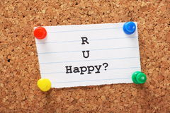 R U Happy? Royalty Free Stock Images