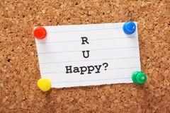 R U heureux ? Images libres de droits
