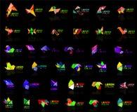 R up strzałkowatego origami loga projekta szablonu abstrakcjonistycznego wektorowego papieru ikony biznesowej firmy symbolu kreat Zdjęcia Stock