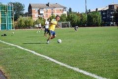 r Utbildningsfotbollslag arkivbild