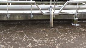R?utilisation de l'eau Traitement d'eaux us?es Bulle liquide sale dans le réservoir d'aération clips vidéos