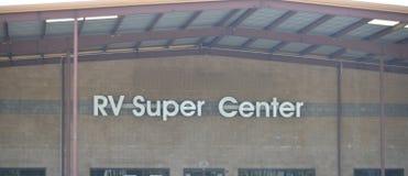 r V Recreatief Voertuig Super Centrum stock fotografie