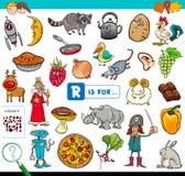 R is voor onderwijsspel voor kinderen royalty-vrije stock afbeeldingen
