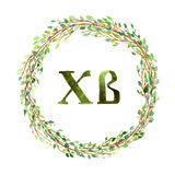R wreath of branches Stock Images