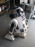 R2-D2. The well known Star Wars robot. This robot and many clothes and suits was showed at the Movieland park in 2011-04-30 for the Star Wars day event Stock Photos