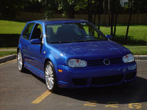 R32. A blue Volkswagen 3.2 liter vr6 all wheel drive R32 stock image