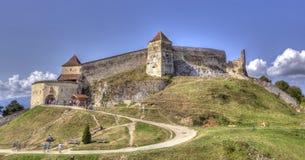 RaÅŸnov citadell i Rasnov Arkivfoton