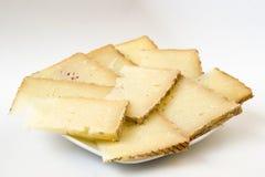 Ração do queijo Foto de Stock