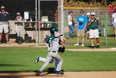 Raça à segunda base. Foto de Stock