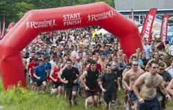 Raça 2011 espartano de Ottawa Sprint Imagens de Stock Royalty Free