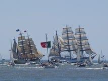 Raça alta do navio 2012 no rio de Tagus Foto de Stock Royalty Free