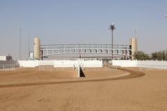 Raça Cours do camelo de Dubai Foto de Stock