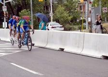 Raça da bicicleta de Argentina e de Brasil em tandem - jogos de ParaPan Am - Toronto 8 de agosto de 2015 Foto de Stock Royalty Free