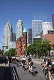 Raça da bicicleta do critério de Toronto Fotografia de Stock Royalty Free