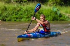 Raça da canoa de Hank Mcgregor Dusi fotografia de stock