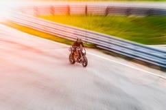 Raça da motocicleta Imagens de Stock