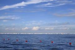 Raça da navigação Barcolana trieste imagens de stock