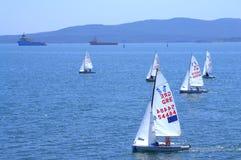 Raça da navigação de Junior European Championship Fotografia de Stock Royalty Free