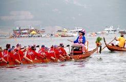 Raça de barco da equipe dos E.U. Fotos de Stock