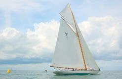 Raça de barco de madeira clássica Fotografia de Stock Royalty Free