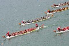 Raça de barco do dragão Foto de Stock Royalty Free