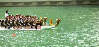 Raça de barco do dragão Imagem de Stock Royalty Free