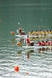 Raça de barco do dragão Fotografia de Stock Royalty Free
