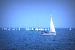 Raça de barcos da navigação Fotos de Stock Royalty Free