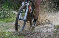 Raça de bicicleta Fotografia de Stock Royalty Free