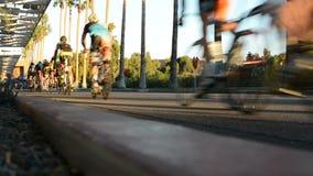 Raça de bicicleta video estoque