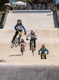 A raça de BMX salta Imagens de Stock