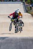 A raça de BMX salta Imagem de Stock Royalty Free