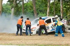 Raça de carro da visita em Pattaya, Tailândia, junho 2012 Fotografia de Stock