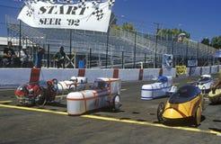Raça de carro de Electrathon na expo solar e da energia, CA Fotos de Stock Royalty Free