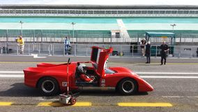 Raça de carro histórica dos esportes Foto de Stock Royalty Free