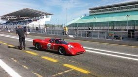 Raça de carro histórica dos esportes Fotos de Stock Royalty Free