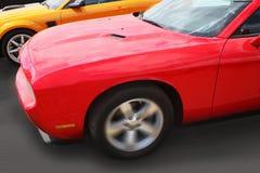 Raça de carros dos esportes Fotografia de Stock