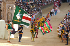 Raça de cavalo do palio de Siena Fotografia de Stock Royalty Free