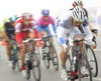 Raça de ciclismo Fotografia de Stock Royalty Free
