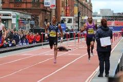 A raça de David Oliver acaba-se nos grandes jogos da cidade em Manchester 2015 Fotografia de Stock