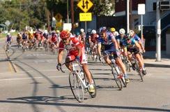 Raça de estrada da bicicleta Fotografia de Stock Royalty Free