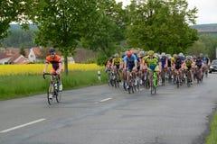 A raça de Europa é parte da maratona anual EUROPA do ciclismo da estrada do compeInternational dos mestres do extraliga - Romana  fotos de stock royalty free