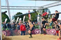 Raça de Farinato, raça de obstáculo extrema em Gijon, Espanha imagens de stock