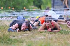 Raça de Farinato - raça de obstáculo extrema em Leon, Espanha fotografia de stock