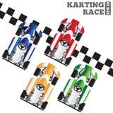 Raça de Karting Foto de Stock