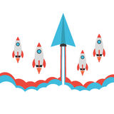 Raça de Rocket Foto de Stock Royalty Free
