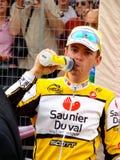 Raça do último do d'Italia do Giro, Riccardo Riccò Foto de Stock Royalty Free